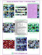Seasons and Weather 7 Game Plus 2 Worksheet Bundle