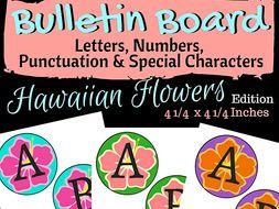 Hawaiian Flower Bulletin Board Letters & Special Characters (3 Sets)