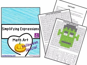 Simplifying Expressions Maths Art Halloween Special