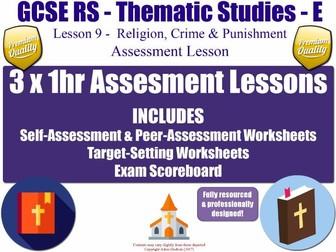 Religion, Crime & Punishment: Assessment Materials [AQA GCSE RS - L9/10] Theme E Practice Exam Paper
