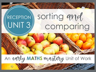 Sorting and Comparing maths for Early Years planning