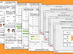Year 3 Divide 2-Digits by 1-Digit 1 Spring Block 1 Step 5 Lesson Pack