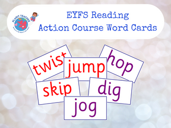 EYFS Reading - Action Course Words