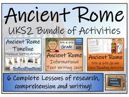 UKS2 Ancient Rome - Display, Research, Reading Comprehension & Writing Bundle