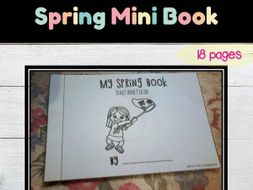 Spring Words Vocabulary Mini Book (trace & color)