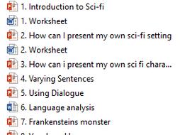 Science Fiction Scheme of Work