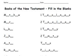 books of the new testament fill in the blanks by tspeelman