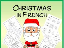 Christmas in French - Vocab. sheets, wks, matching and bingo games