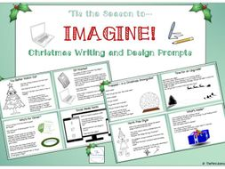 IMAGINE! Christmas Writing and Design Prompts.
