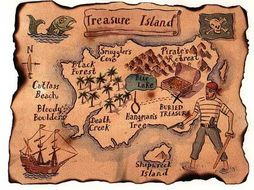 Robert Louis Stevenson PPT and worksheets on 'Treasure Island'