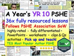 Year 10 PSHE + RSE