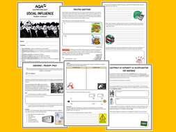AQA A-level psychology social influence workbook/booklet