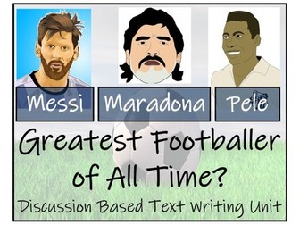 UKS2 Literacy - Who is the Greatest Football Player?  Discussion Based Writing Activity