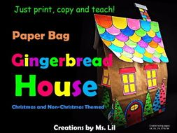 Gingerbread House Craft  :: Christmas Craft  ::  Gingerbread House Activity