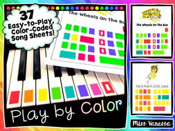 37 Color-Coded Easy-to-Play Songs for Piano!