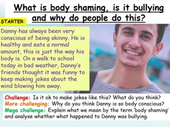 Bullying : Body Shaming