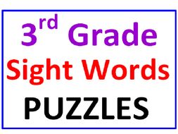 Third Grade Sight Words Word Search Puzzles (2 Puzzles)