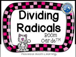 Dividing Radicals Boom Cards--Digital Task Cards