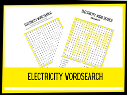 Electricity Wordsearch | KS2 Science