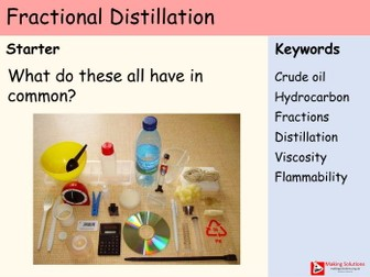 AQA Chapter 7 (Hydrocarbons) - Lesson 2 - Fractional Distillation and Properties of Hydrocarbons