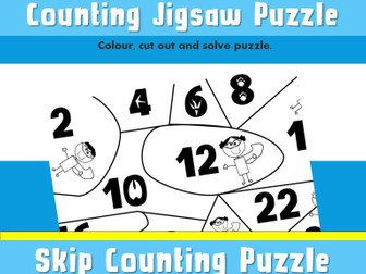 FREE 2 Times Table Printable Skip Counting Puzzle Jigsaw