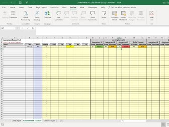 Assessment and Data Tracker/Analysis Spreadsheet - BTEC Subjects