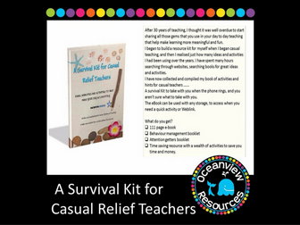 A Survival Kit for Supply and Relief Teachers