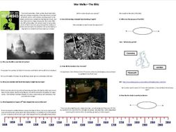 War Walks - Blitz - Worksheet to support the BBC Documentary with Richard Holmes
