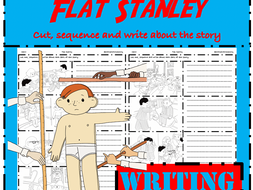 Flat Stanley Writing: Cut, sequence & write to retell the story