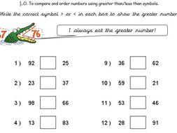maths greater less than problems by goldstarteach teaching
