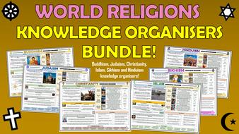 Major Religions Knowledge Organisers Bundle!