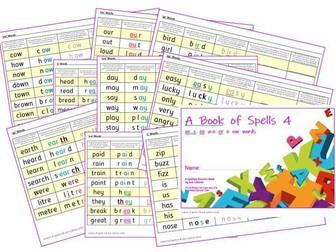 Phonics for SEN: Book of Spells 4 - Spelling Practice Books - oe  z  ee  a-e  er  e  ow