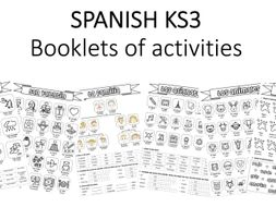 spanish ks3 booklets various topics by albichuelita teaching resources. Black Bedroom Furniture Sets. Home Design Ideas