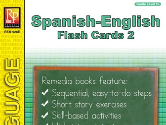 Spanish-English Vocabulary-Building Flash Cards 2