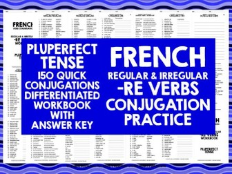 FRENCH -RE VERBS PLUPERFECT TENSE