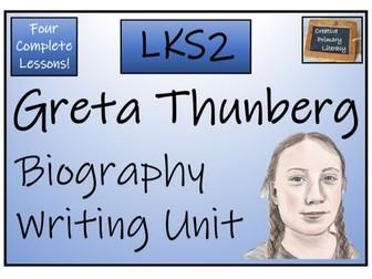 LKS2 Literacy - Greta Thunberg Biography Writing Activity