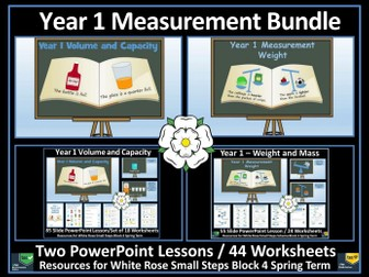 Measurement - Year 1 - Weight and Volume Bundle - White Rose Maths Style