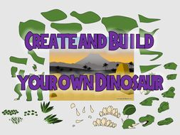 Dinosaur - Create\Build your own Dinosaurs. (Drag and Drop in PowerPoint)