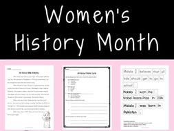 Women's History Month - reading texts, comprehension, and more!
