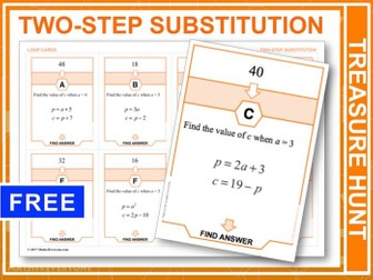 Two-step Substitution (Treasure Hunt)