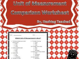 Best Unit of Measurement (choosing the most appropriate unit) Assessment