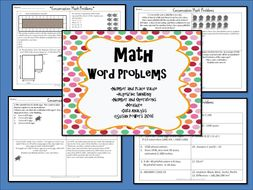 Math Multi Step Word Problems Task Cards.