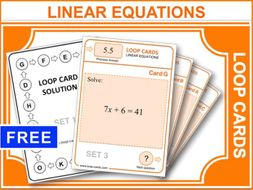 Linear Equations (Loop Cards)