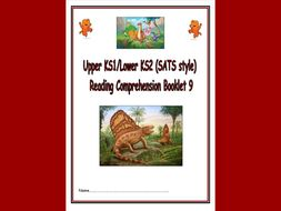 KS1/LKS2 SATS style Reading Comprehension Booklet 9 - based on the popular topic of Dinosaurs.