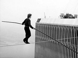 KS2 Writing a newspaper report - Philippe Petit Walks Across the World Trade Center in 1974