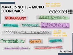 Micro Economics Markets Notes