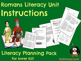 Romans Literacy Planning Pack  - Instructions Unit Y3/4