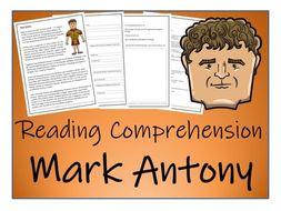 UKS2 Ancient Rome - Mark Antony Reading Comprehension Activity
