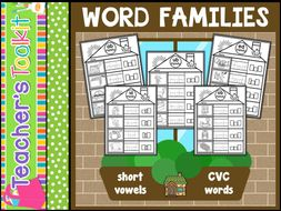 CVC Words | Word Families | Worksheets