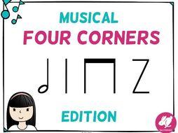Musical Four Corners, Half Note Rhythm Game (Stick & Standard Bundle)